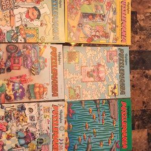 Vintage 1990-1992 puzzle mania books(6)